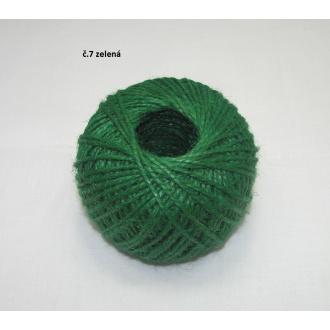 Jutový špagát ø2 mm- zelená