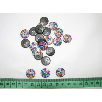 Gombík detský -fareb.kocka O 1,5cm