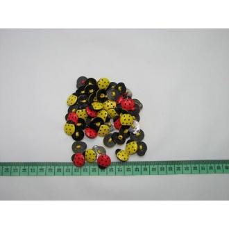Gombík detský - lienka O 1,5cm