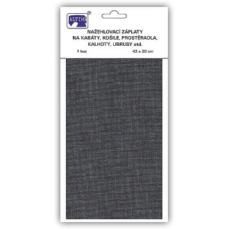 Nažehľovačky plátno riflové 43x20cm