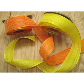 Stuha potlač oranžová,žltá