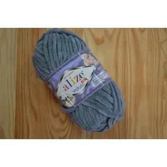 Alize Velluto 100g - 87 / tmavá šedá