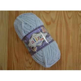 Alize Velluto 100g - 416 / bledo modrá