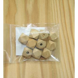 Korálky drevené guličky - 12x15 mm
