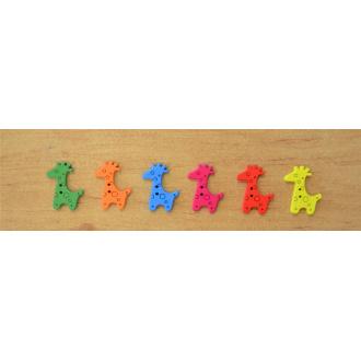 Gombík detský drevený žirafa / 1ks