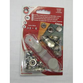 Nitovacie gombíky - 15mm nikel