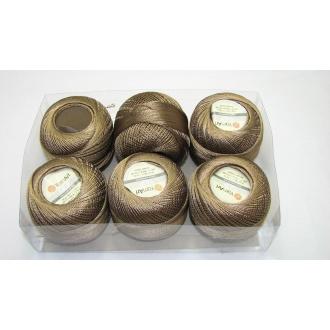 Kordonet lesklý TULIP 50g - 403 hnedá