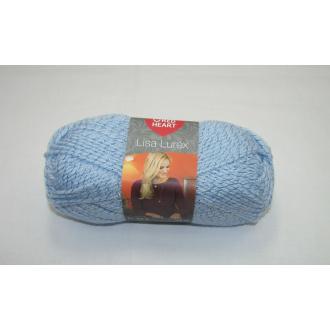 Lisa Lurex 50g-00014 sv.modrá so striebornou niťou
