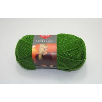 Lisa Lurex 50g-004  zelená so strieb.niťou