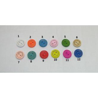 Drevený gombík handmade farebný