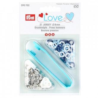 Stláčací gombíky PRYM  LOVE Jersey 8mm