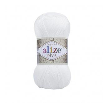 Alize Diva - 55 Biela