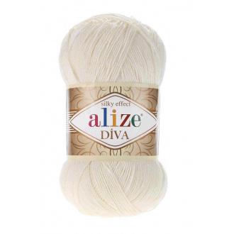 Alize Diva - 62 Svetlá krémová