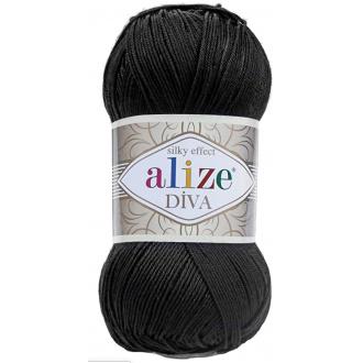 Alize Diva - 60 Čierna