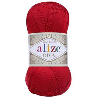 Alize Diva - 106 Červená