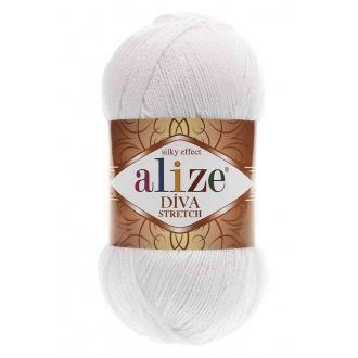 Alize Diva stretch - 55 Biela