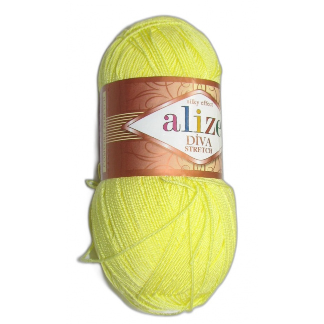 Alize Diva stretch - 643 Žltá