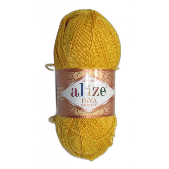 Alize Diva stretch - 643 Žltá