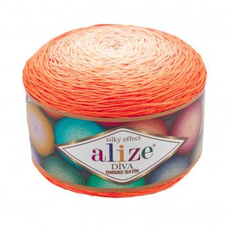 Alize Diva Ombre batik - 7413 oranžová