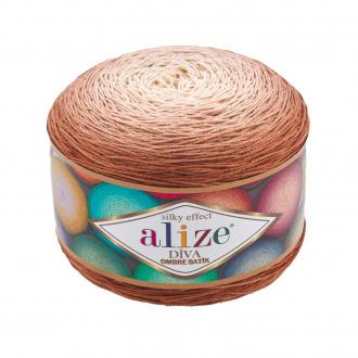 Alize Diva Ombre batik - 7375 Hnedá