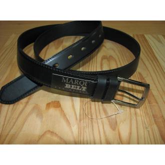 Opasok koženný čierny 100cm