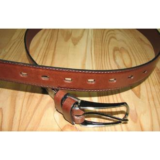 Opasok koženný hnedý 115 cm