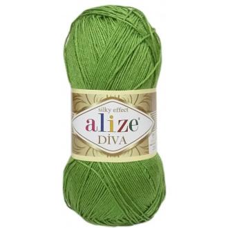 Alize Diva - 210 Olivovo zelená