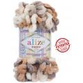 Alize Puffy Color - 5926 Hnedý melír