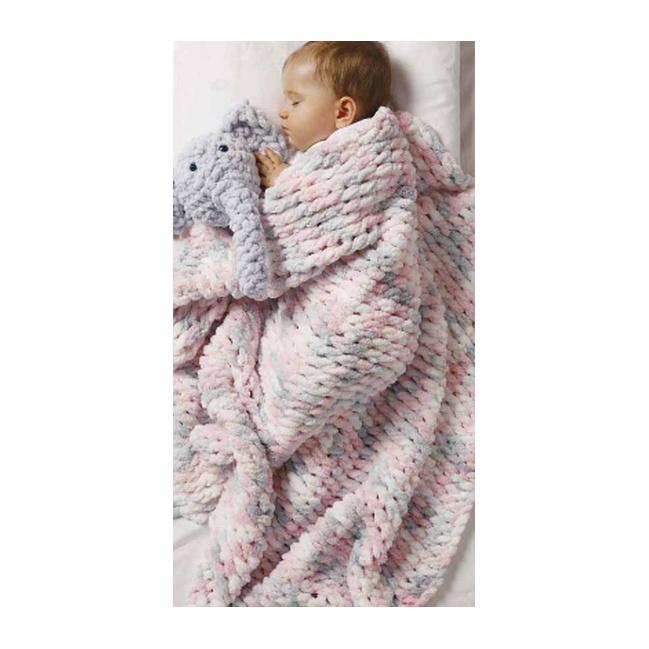 Alize Puffy Color 100g - 6305 ružovo sivá