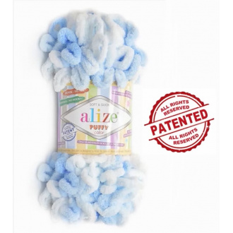 Alize Puffy Color - 5865 Modrý melír