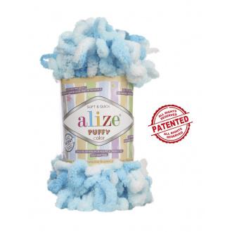 Alize Puffy Color - 5924 Modrý melír
