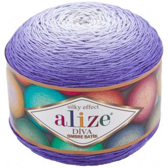Alize Diva ombre batik - 7378 Fialová