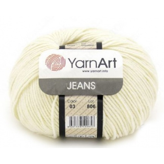 Yarnart Jeans - 62 Biela