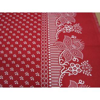 Potlač ľudová ľudová červená bordúra