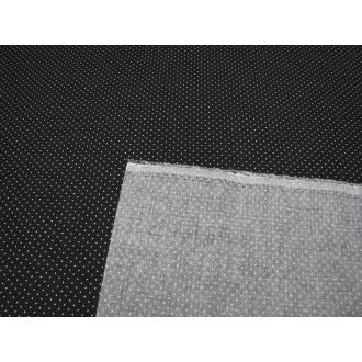 Bavlna bodka biela na čiernom podklade
