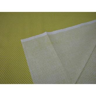 Bavlna bodka žltozelená