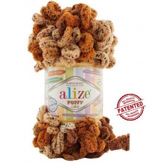 Alize Puffy Color - 6080 Hnedý melír
