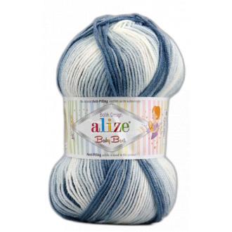 Alize Baby Best batik 100g - 7542 Modro biely melír