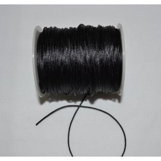 Šnúra saténová korzetová 1mm / čierna