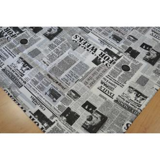 Bavlna imitácia novín