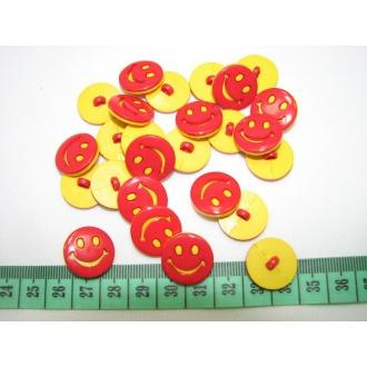 Gombík detský smajlík O 1,8cm
