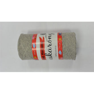 Bavlnené Macrame-Makarony 250g-1180 čierno biela