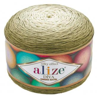Alize Diva ombre batik - 7374 Zelená