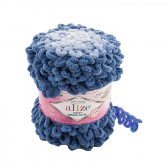 Alize Puffy Ombre Batik - 7425 jeansová modrá