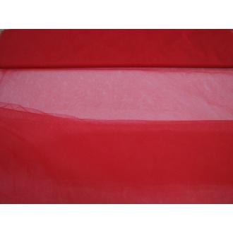 Tyl š. 280cm - červený jemný