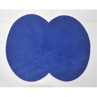 Semišová nažehlovačka kráľovská modrá