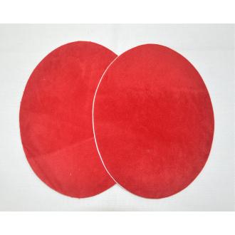 Semišová nažehlovačka červená