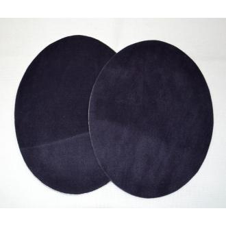 Semišová nažehlovačka  tmavá modrá