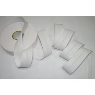 Šikmý prúžok bavlna zažehlený 30mm - biely