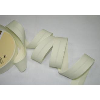 Šikmý prúžok bavlna zažehlený 30mm - smotanová